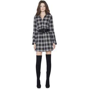 Alice + Olivia Jem Ruffle Sleeve Mini Dress